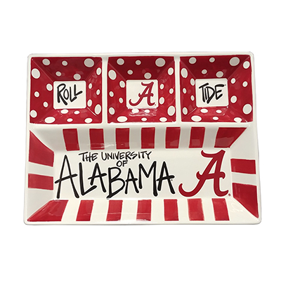 Alabama 4-Section Platter