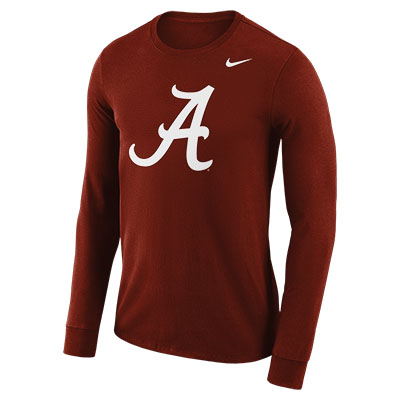 Nike Men's Dri-Fit Cotton Long Sleeve Logo Script A