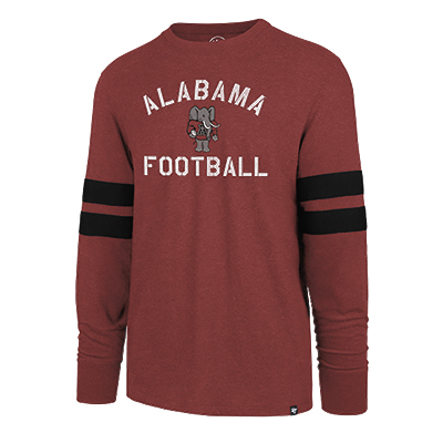 47 Brand Men's Long Sleeve Scramble Alabama Football T-Shirt