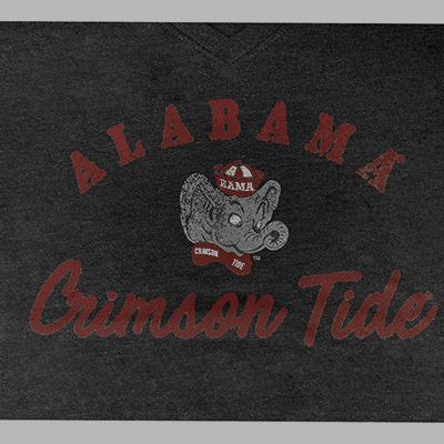 47 BRAND WOMEN'S LONG SLEEVE ALABAMA CRIMSON TIDE ELEPHANT HEAD T-SHIRT