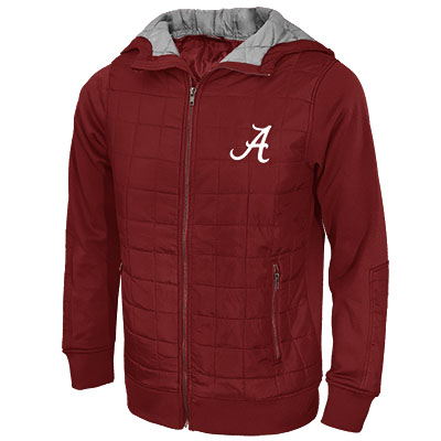 Linebacker Full Zip Puff Jacket With Script A