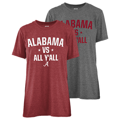 Alabama Vs All Y'all Melange Crew T-Shirt
