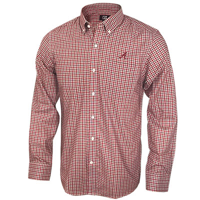 Men's Cutter & Buck Lakewood Check Long Sleeve Button Down