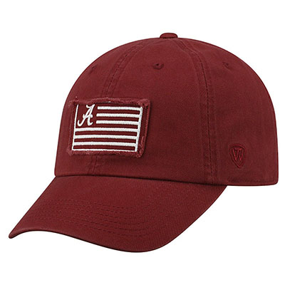 Red & White Us Flag 4 Cap