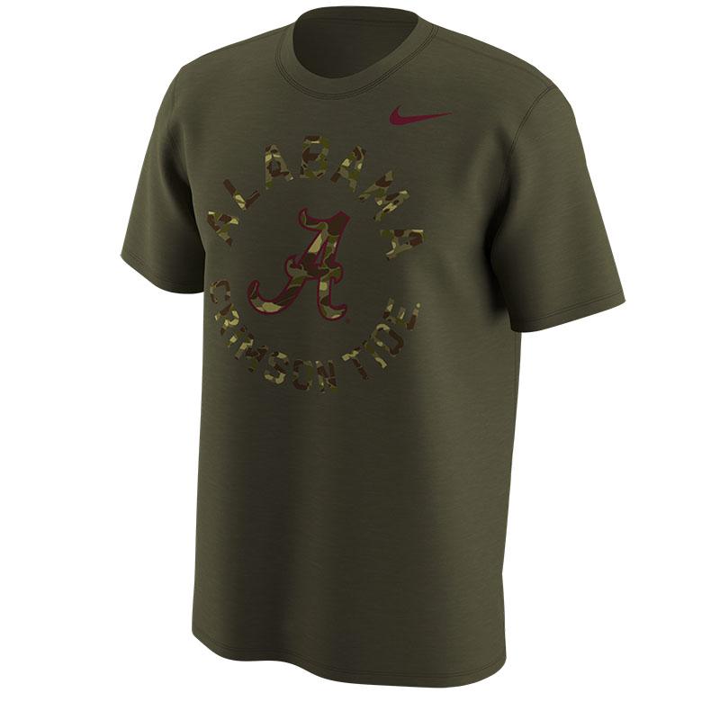 e584cddcb98b Nike Camo Short Sleeve Legend Alabama Crimson Tide T-Shirt ...