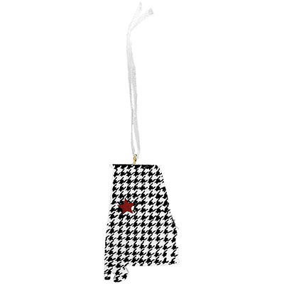 Tuscaloosa Houndstooth State Ornament