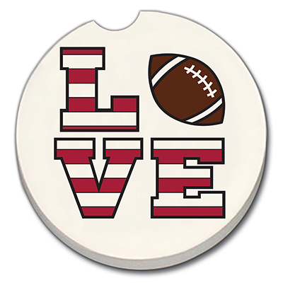 Love Football Car Coaster