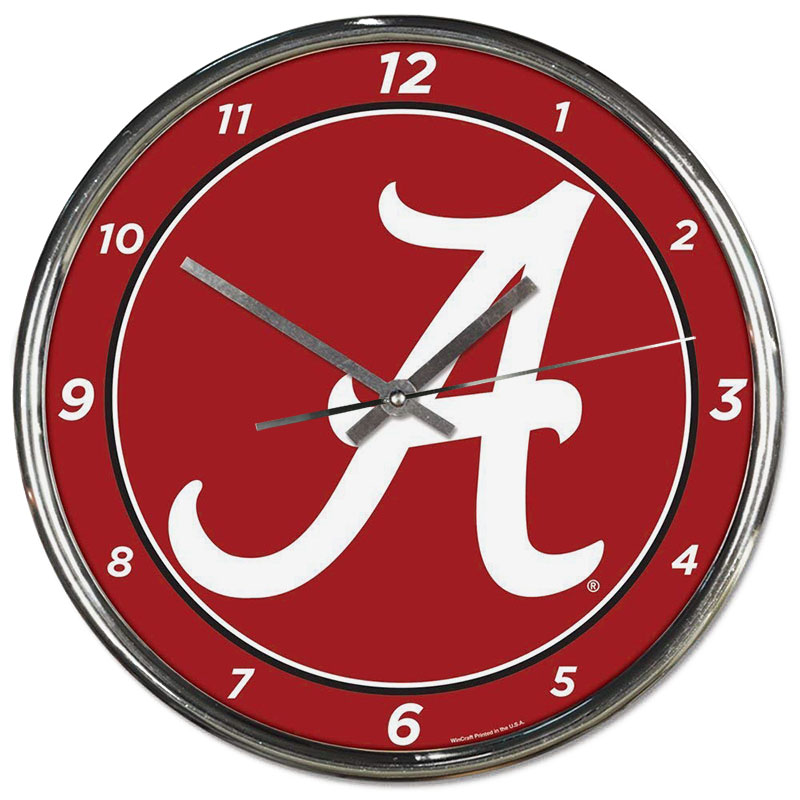 Alabama Script A Chrome Clock (SKU 13138080106)