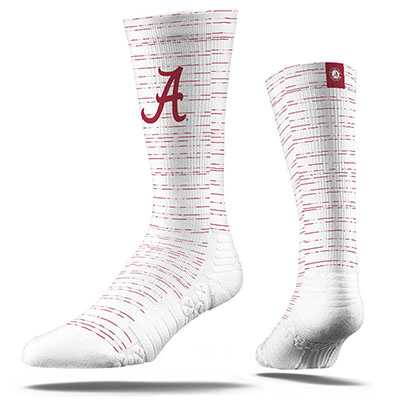 Alabama Script A Full Sublimated Crew Sock