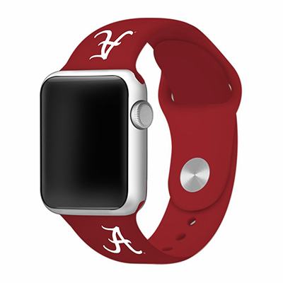 Crimson Silicone Sport Band For Apple Watch Script A