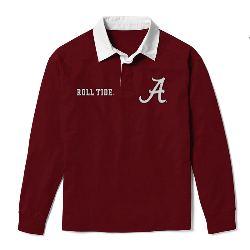 League Jack Collared Long Sleeve Script A And Roll Tide (SKU 13143640207)