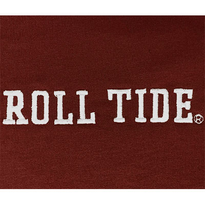 LEAGUE JACK COLLARED LONG SLEEVE SCRIPT A AND ROLL TIDE