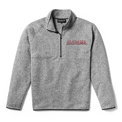 League Saranac Men's Quarter Zip With Alabama