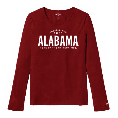 League Freshy Long Sleeve Alabama T-Shirt