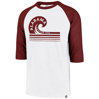 47 Brand Men's Club Raglan With Alabama Wave