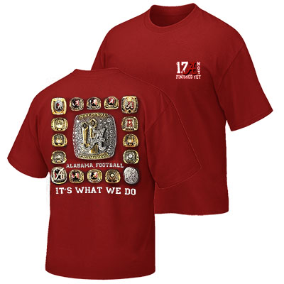 T-Shirt Alabama 17 Championship Rings