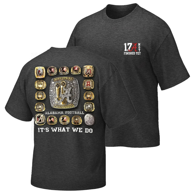 Alabama 17 Championship Rings T-Shirt (SKU 13151072102)