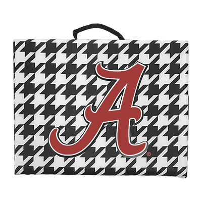 Alabama Script A Houndstooth Bleacher Cushion