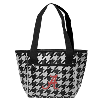 Alabama Houndstooth 16 Can Cooler Tote