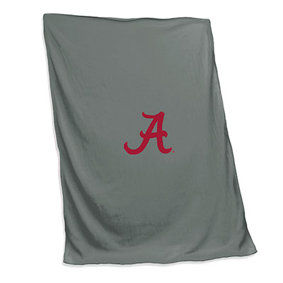 Alabama Charcoal Sweatshirt Blanket With Script A