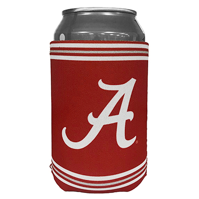 2-Sided Script A & Alabama Flat Coozie
