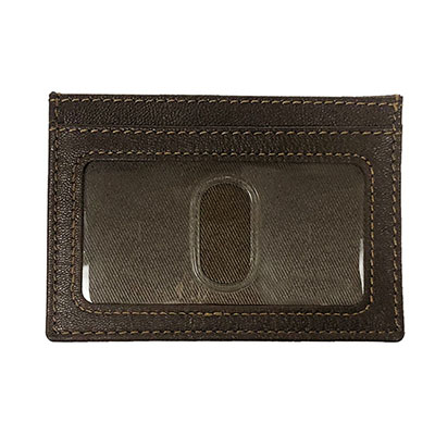 ALABAMA SCRIPT A LEATHER CARD HOLDER