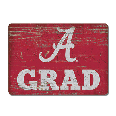 Alabama Grad Wood Magnet