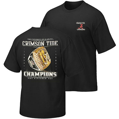 T-Shirt Championship Ring Not Finished Yet