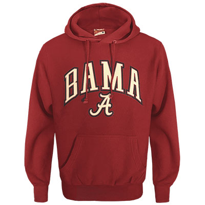 Bama Over Script A Hooded Sweatshirt