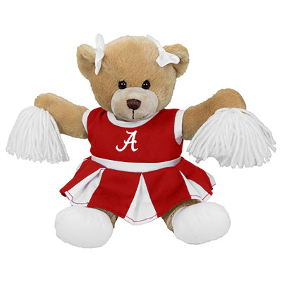 Carly Bear With Alabama Cheer Outfit
