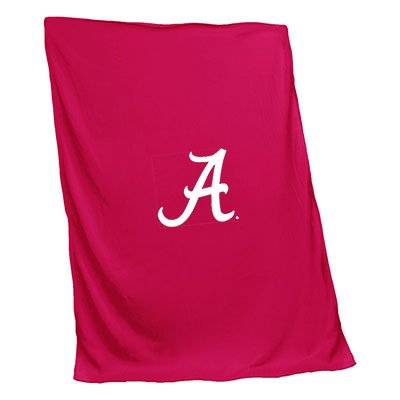 Alabama Pink Sweatshirt Blanket With Script A
