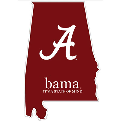 State Of Alabama Script A Decal