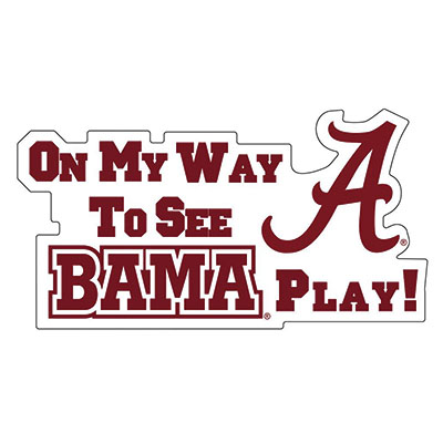 On My Wayto See Bama Play!  Car Magnet