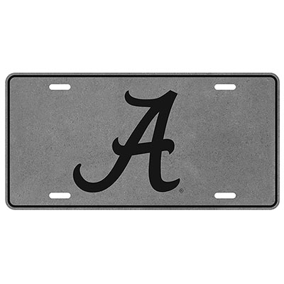 Printed Tin Metal Script A Car Tag