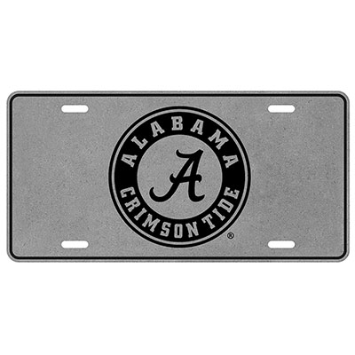 Athletic Seal Printed Tin Metal Car Tag