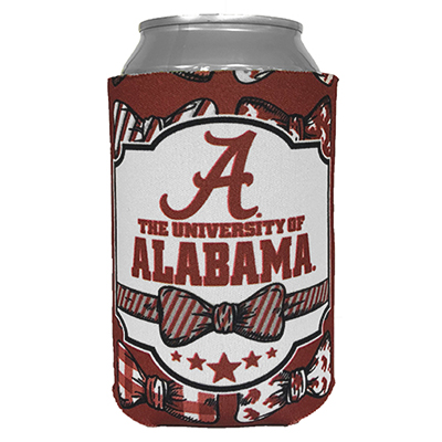Alabama Bowtie Can Coozie