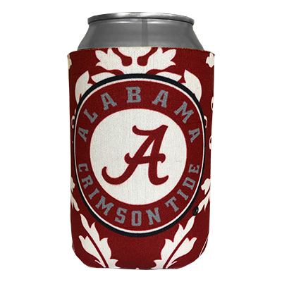 Alabama Primary Damask Can Coozie