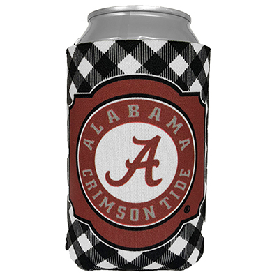 Alabama Gingham Can Coozie