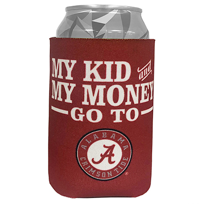 2-Sided My Money And My Kid Alabama Can Coozie