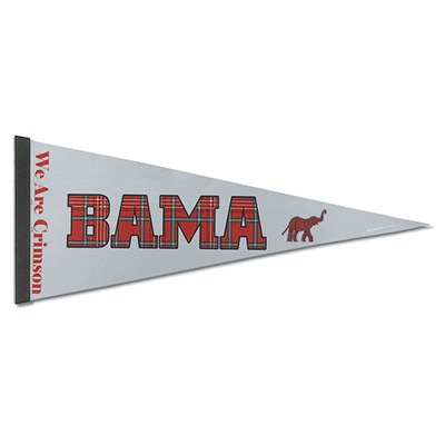 Tartan Pennant Bama We Are Crimson