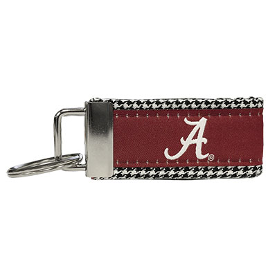 Keychain Houndstooth With Script A