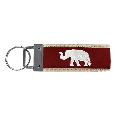 Alabama Keychain With Elephant