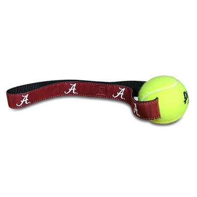 Dog Tug-Of-War Tennis Ball With Script A Strap