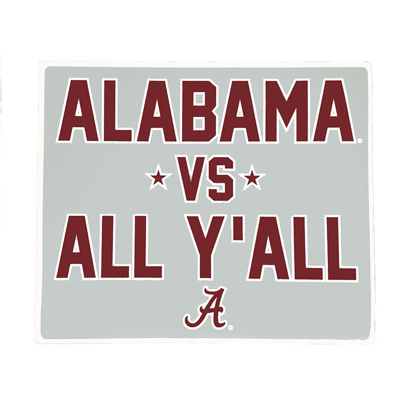 Alabama Vs All Y'all Decal (SKU 13174507115)