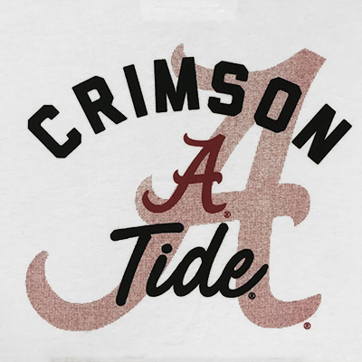 47 BRAND CRIMSON TIDE FADE OUT HOODIE T-SHIRT