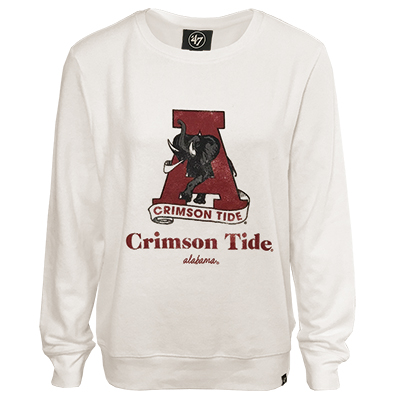 47 Brand Crimson Tide Encore Throwback Crew Sweatshirt