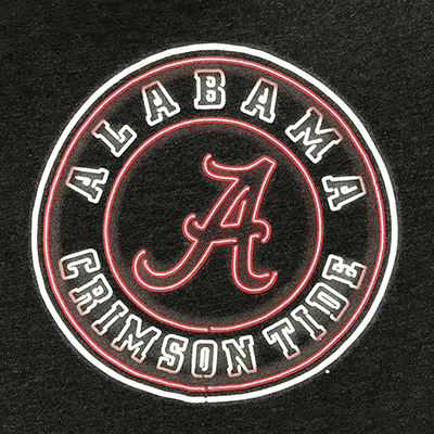 47 BRAND ALABAMA NEON CIRCLE T-SHIRT