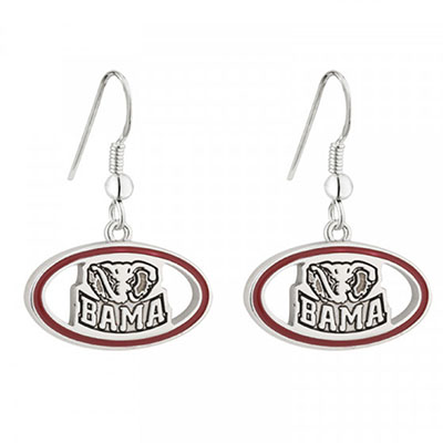 Bama With Elephant Elliptical Earrings