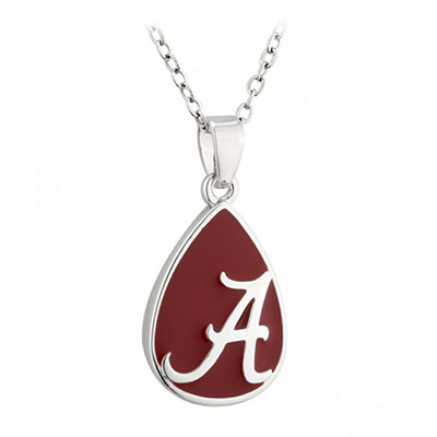 Script A Teardrop Necklace