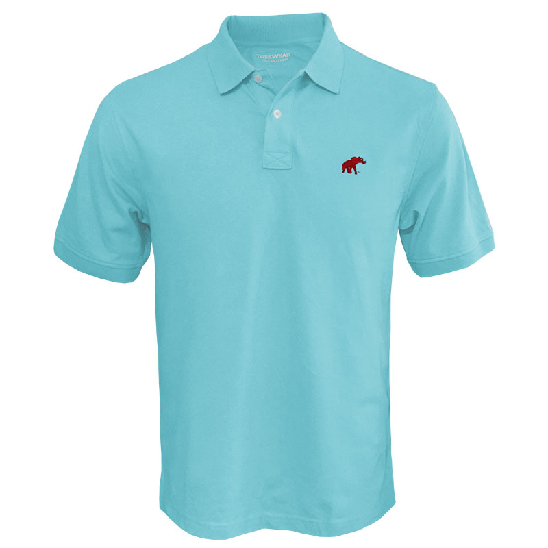 Tuskwear Stretch Pique Polo With Elephant